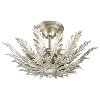 Cheyney 2-Light Semi Flush Mount Finish: Antique Silver