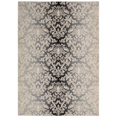 Rutha Charcoal Area Rug Rug Size: Rectangle 53 x 75