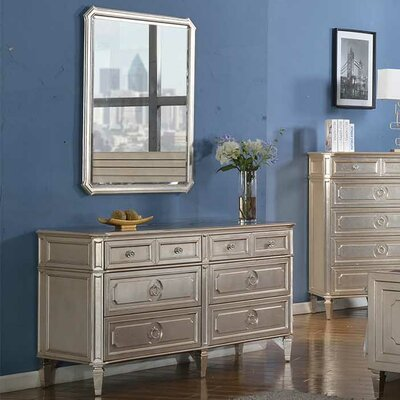 Ivers 6 Drawer Dresser with Mirror