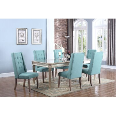 Brette 5 Piece Dining Set Upholstery Color: Laguna