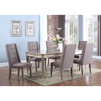 Ivers 5 Piece Dining Set Upholstery Color: Otter