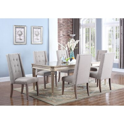 Ivers 5 Piece Dining Set Upholstery Color: Taupe