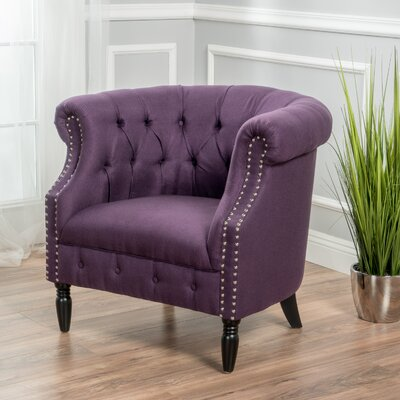 Bourbeau Chesterfield Chair Upholstery: Plum