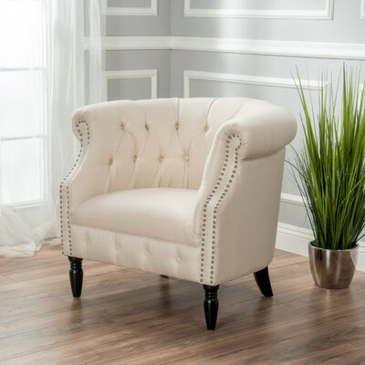 Bourbeau Chesterfield Chair Upholstery: Beige