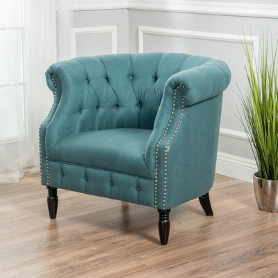 Bourbeau Barrel Chair Color: Dark Teal