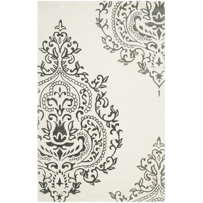 Janson Ivory/Gray Area Rug Rug Size: Rectangle 4 x 6