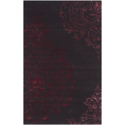 Janson Brown/Maroon Area Rug