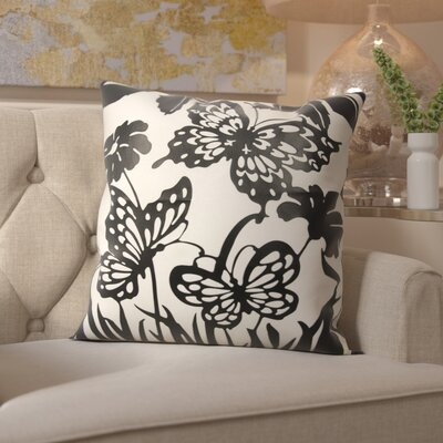 Hertzog Throw Pillow Color: Black