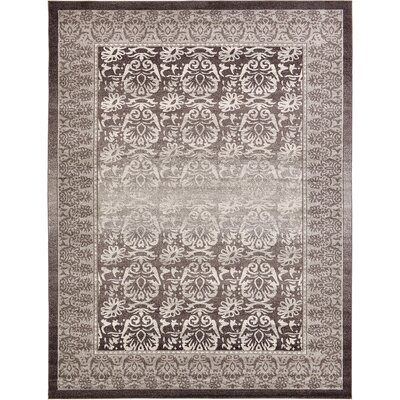 Alexan Brown Area Rug Rug Size: 9 x 12