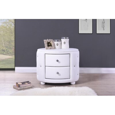 Rundle 2 Drawer Nightstand Finish: White