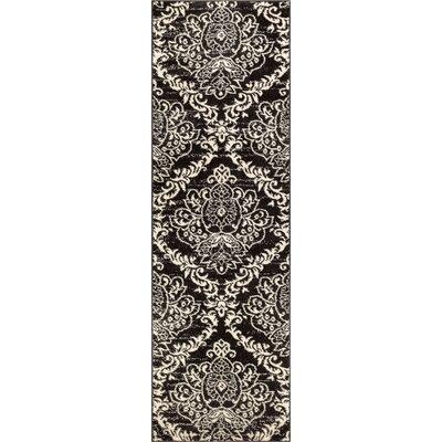 Newquay Magnolia Black/White Area Rug Rug Size: Runner 23 x 73
