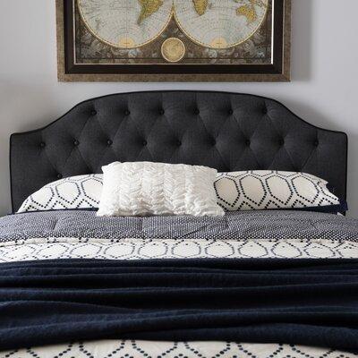 Rothermel Upholstered Panel Headboard Size: Full, Upholstery: Dark Gray