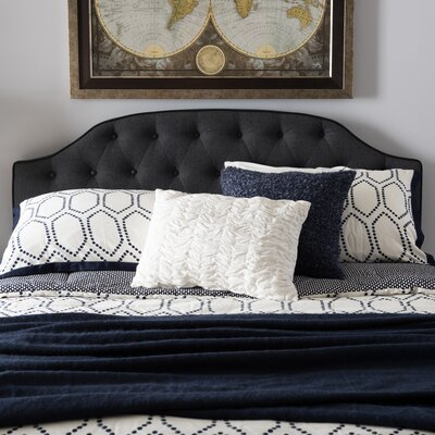 Rothermel Upholstered Panel Headboard Size: Twin, Upholstery: Dark Gray
