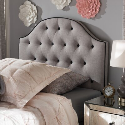 Rothermel Upholstered Panel Headboard Size: Queen, Upholstery: Beige