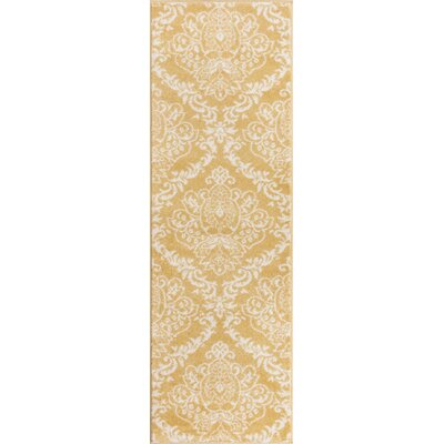 Newquay Magnolia Gold/Ivory Area Rug Rug Size: Runner 23 x 73