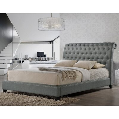 Rorie Upholstered Platform Bed Size: Queen, Color: Grey