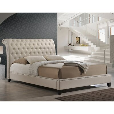 Rorie Upholstered Platform Bed Upholstery: Light Beige, Size: Queen