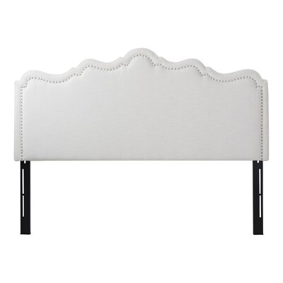 Capucine Upholstered Panel Headboard Upholstery: Star White, Size: King