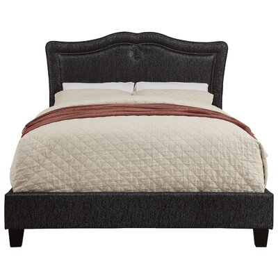 Fabian Sweetheart Shaped Upholstered Panel Bed Upholstery: Glitz Onyx