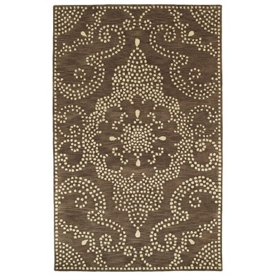 Bashford Hand Tufted Brown/Beige Area Rug Rug Size: 36 x 56