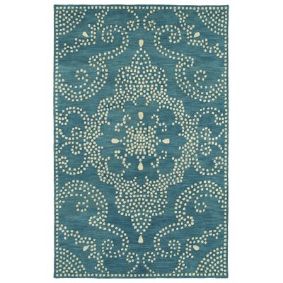 Bashford Hand Tufted Green/Beige Area Rug Rug Size: 36 x 56