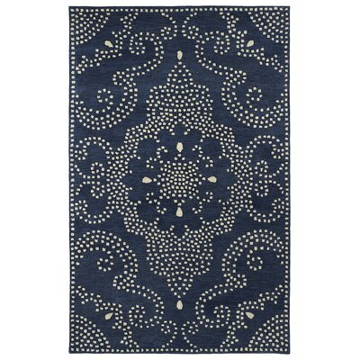 Bashford Hand Tufted Blue Area Rug Rug Size: Rectangle 36 x 56
