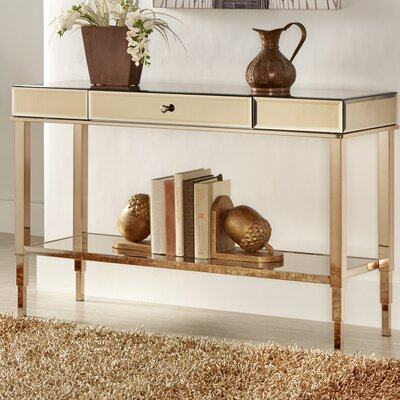 Banford Mirrored Console Table Finish: Champagne Gold