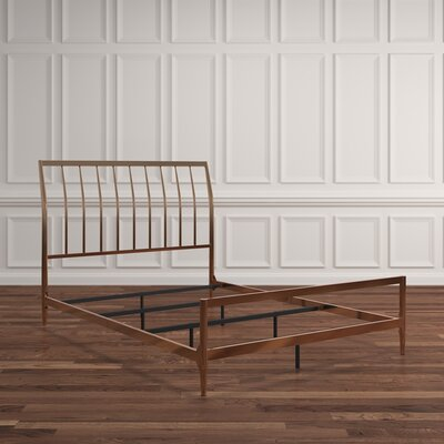Albina Metal Sleigh Bed Size: Full