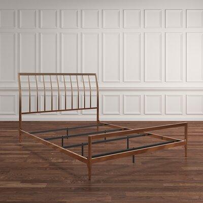 Albina Metal Sleigh Bed Size: Queen