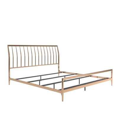Albina Metal Sleigh Bed Size: King