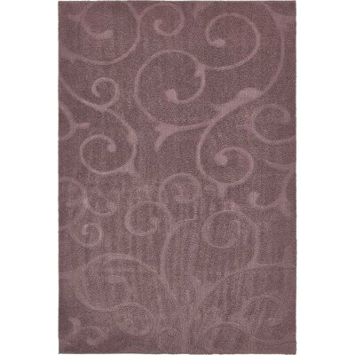 Eladia Floral Violet Area Rug Rug Size: Rectangle 9 x 12