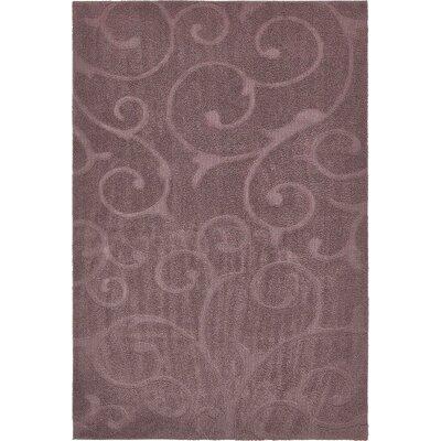 Eladia Floral Violet Area Rug Rug Size: Rectangle 8 x 10