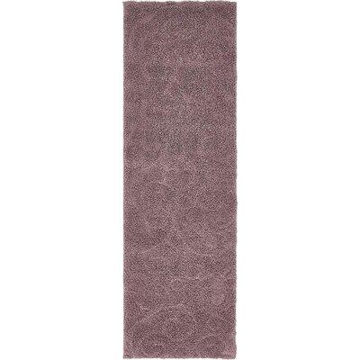 Barwick Floral Violet Area Rug Rug Size: Runner 2 x 67