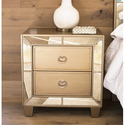 Levitt 2 Drawer Nightstand