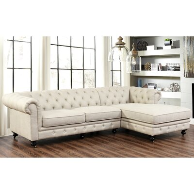 Willa Arlo Interiors WRLO1019 Albertina Chesterfield Modular Sectional