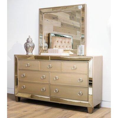 Alasdair 7 Drawer Double Dresser with Mirror