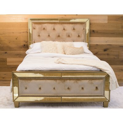 Alasdair Mirrored Tufted Upholstered Platform Bed Size: California King