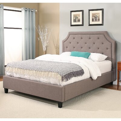 Lamar Nailhead Trim Upholstered Platform Bed Size: Queen