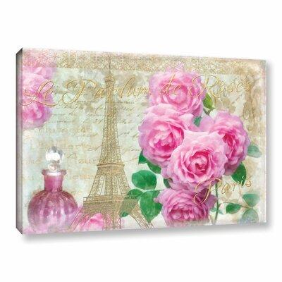 Parfum De Roses Graphic Art on Wrapped Canvas Size: 12