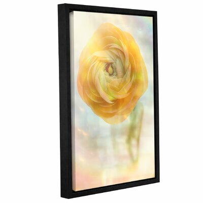 Sunshine Flower Framed Graphic Art on Wrapped Canvas Size: 12