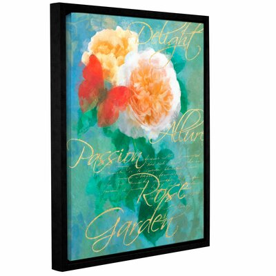 Rose Garden 2 Framed Graphic Art on Wrapped Canvas Size: 10