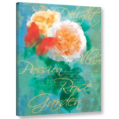 Rose Garden 2 Graphic Art on Wrapped Canvas Size: 10