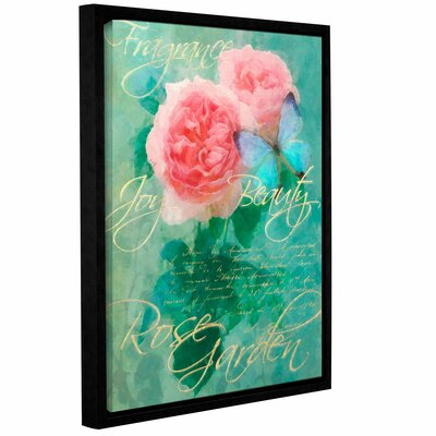 Rose Garden 1 Framed Graphic Art on Wrapped Canvas Size: 10