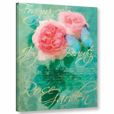 Rose Garden 1 Graphic Art on Wrapped Canvas Size: 10