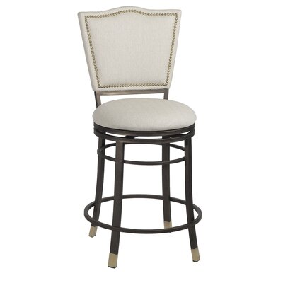 Brys Swivel Elegant Counter Height Bar Stool
