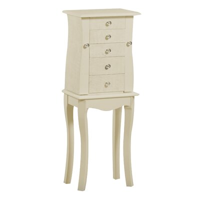Ronna Free Standing Jewelry Armoire with Mirror