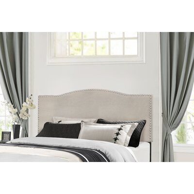 Upholstered Panel Bed Size: Full, Color: Glacier Gray