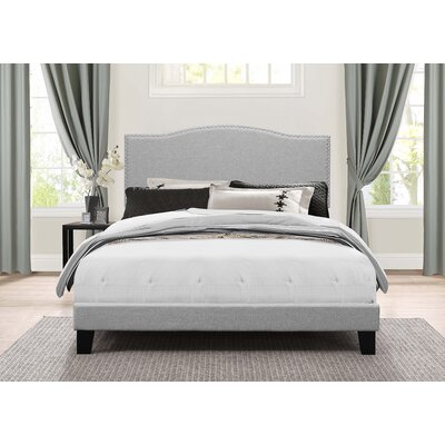 Balster Upholstered Panel Bed Size: Queen, Upholstery: Glacier Gray
