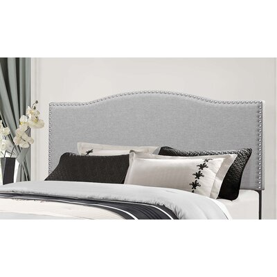 Upholstered Panel Headboard Size: King, Upholstery: Glacier Gray