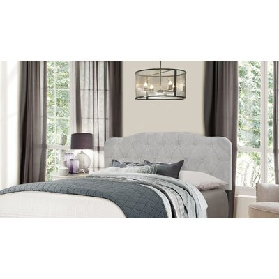 Barbery Upholstered Panel Headboard Size: Full/Queen, Upholstery: Glacier Gray